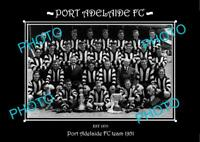 SANFL 8x6 HISTORIC PHOTO OF THE PORT ADELAIDE FC TEAM 1951
