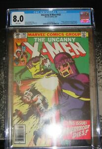 Uncanny X-Men 142 CGC 8.0 Marvel Comics KEY ISSUE WHITE Pages News Stand 1981