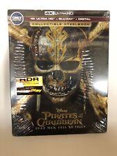 Pirates of the Caribbean Dead Men Tell No Tales Steelbook 4K UHD Blu-ray NEW