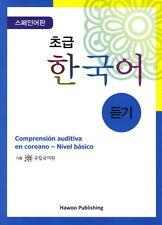 Listening Korean / Beginners-Korean Language Hangeul Training Book for Spansish
