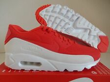 NIKE AIR MAX 90 ULTRA MOIRE LIGHT CRIMSON RED-WHITE SZ 11.5 [819477-611]