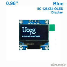 "Blue 0.96"" I2C IIC 128X64 OLED LCD LED Display Module Screen SSD1306 For Arduino"