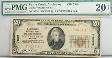 1929 $20 Dollar Michigan National Bank Note FR 1802-1 PMG Certified Currency