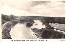 Doaktown New Brunswick Canada Miramichi River Real Photo Antique Postcard J63327
