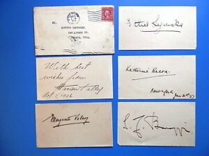 Classical Music - Pianists - Composers - Opera Etc - Five 1920's Signed Cards