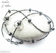 ✫sweetheart✫black Beaded Necklace Glasses Spectacles Eyeglass Chain Holder