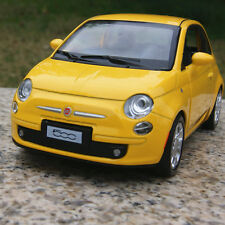 FIAT 500 Alloy Diecast Model Cars 1:28 Open two doors Collection&Gifts Yellow