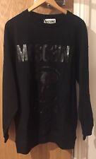 Moschino Black Logo Long Sleeve Sweatshirt Jumper  Size XS/IT 44/UK 34