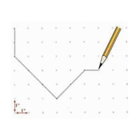 """Marking Paper Alpha numeric Guide (48"""" x 10 Yards), for pattern makers,designers"""