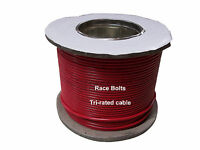 2.5, 4.0, 6.0 & 10MM SQ TRI RATED POWER CABLE (WIRE) - RED OR BLACK -100M LENGTH