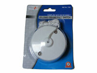 WHITE 6A TWO WAY CEILING SWITCH BATHROOM PULL CORD SWITCH LIGHT FITTING - NEW