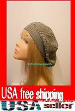 gray  Women Lady girl thin Fashion Beret Beanie CROCHET French Artist CAP HAT
