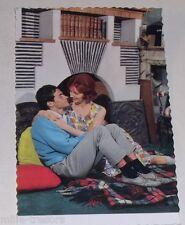Carte Postale PHOTO publicitaire : CHEMINEES VOLTEAU - Couple vintage 60' CP 2