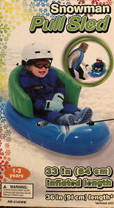 """Snowman Pull Sled 33"""" inflated"""
