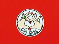 parche gang girl patch banda chicas friends corazon femenino planchar ropa bolso