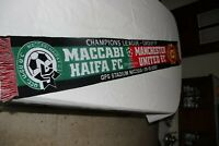Bufanda UEFA CHAMPIONS LEAGUE 2002 MACCABI HAIFA vs MANCHESTER UNITED Group F