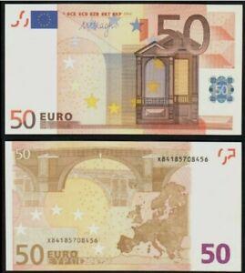 2002 GERMANY EUROPEAN UNION 50 EURO MARIO DRAGHI SIGNED PREFIX x (UNC) {P-17x}