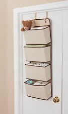 Hanging Closet Organizer, 4-Pockets Wall Mount/Over Door Storage Toys Keys Kids