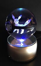 Pokemon Umbreon LED 3D Crystal Ball Night light Lamp Gold Star Charizard Mew
