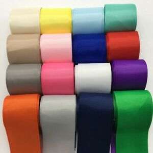 3yards Wide Grosgrain Ribbon Hair Bows Grosgrain Wedding Solid DIY Crafts Pick