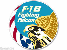 "AIR FORCE F-16 FIGHTING FALCON  TOOLBOX CAR BUMPER 4"" STICKER DECAL"