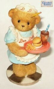 CHERISHED TEDDIES 2002 FIGURINE, DEE DEE, WAITRESS, BURGER STAND, 110014, NIB