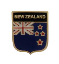 New Zealand Flag Shield Pin Badge