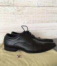 LOUIS VUITTON Men's Dress Shoes Oxford Pointy Leather Black Size EUR 42 US 9