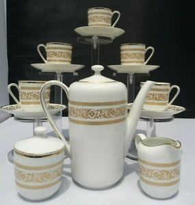 BAVARIA SCHUMANN ARZBERG GERMANY COFFEE/ TEA SET for SIX, w/ Creamer/ Sugar!