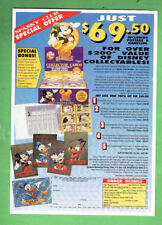 #OO.   TWO 1992 DISNEY PROMOTIONAL SHEETS