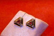 Ohrschmuck 333/- Gelbgold, 2 Rubine, 6 Diamanten 0.04ct, Ohrstecker.