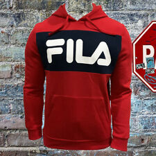 NWT FILA AUTHENTIC MEN'S RED LONG SLEEVE PULL ON HOODIE SWEATSHIRT SIZE M L XL