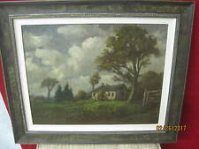 1920's Original Art Oil Painting on Canvas signed A Palmer Wigle Impressionist