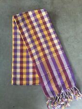 Krama Khmer Multicolore traditionnel Echarpe mixte 100% coton tissé Cambodge 106