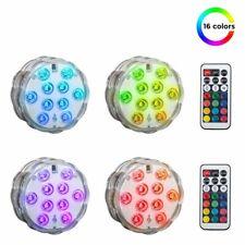 4x LED Unterwasserlampe Deko Licht Leuchten Pool Teich Lampen RGB IP65 Aquarium