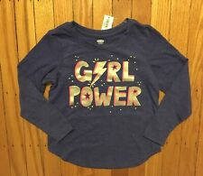 Nwt Girl's Old Navy Purple Shirt with Girl Power - Size Xs 5