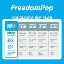 FreedomPop Sim Downgrade to Free Plan Service (Basic Plan)