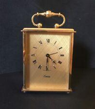 Vintage Swiss Made Brass Clock Swiza Clockwork 8 Day Movement GWO Antique Alarm