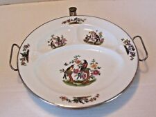 """Rare Antique  Excello Warmer Divided Plate Birds on Branches Pattern 11"""""""