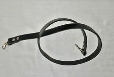 VINTAGE BLACK LEATHER W 18.5 mm NECK SHOULDER STRAP FOR SLR CAMERA*V286**