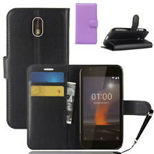 HQ Wallet Money Card Leather Case Cover for Nokia 1 + FREE Stylus