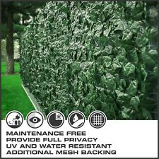 Artificial Privacy Fence Roll Screen Faux Ivy Mesh Windscreen Leaf Cover Shade