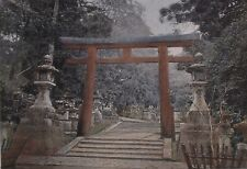 JAPAN, tori of a Shinto temple.....Antique  photochrom.... late 19th century