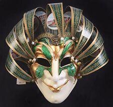 Mardi Gras Mask Maschera Del Galeone Jester Joker Hand Painted Italy New NWT