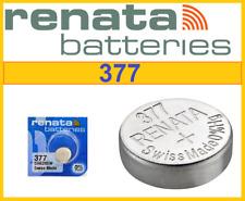 2xGenuine RENATA 377 SR626SW Swiss Watch Cell Batteries Silver Oxide 1.55V-09/20