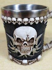Gothic Skull Skeleton Coffee Beer Mug Tankard 3D Resin