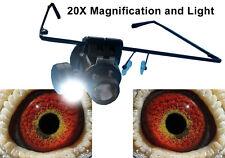 Racing Pigeon 20x Eyeglass with LED Light and Frame Loop Eye Glass Eyesign