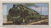 Spanish Railways Steam Locomotove Train Engine  Vintage Ad Trade Card