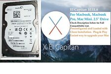"OS X El Capitan, 2.5"" Hard Drive 250GB.Macbook Pro,Macbook, Mac Mini.Plug & Play"