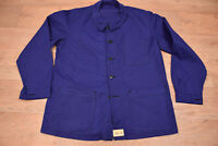 Vtg French EU Worker CHORE Work Shirt Jacket - XL #927 DEADSTOCK UNWORN VTG